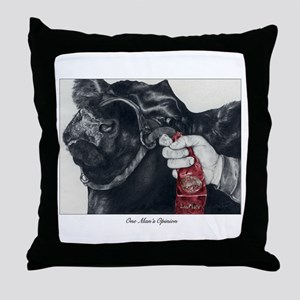 """One Man's Opinion"" Throw Pillow"